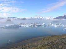 El lakeâ misterioso del âJokulsarlon en Islandia Fotografía de archivo