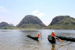 El lakeview hermoso en el condado del puzhehei, Yunnan, China Fotografía de archivo