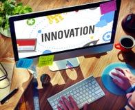 El lanzamiento de las ideas del planeamiento del plan de la innovación comienza para arriba concepto del éxito Fotos de archivo libres de regalías