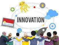 El lanzamiento de las ideas del planeamiento del plan de la innovación comienza para arriba concepto del éxito Foto de archivo