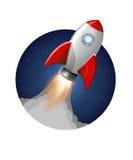 El lanzamiento del cohete del vector saca lanzamiento Imagenes de archivo