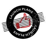 El lanzamiento planea el sello de goma Fotografía de archivo libre de regalías