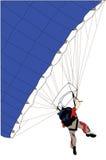 El lanzarse en paracaídas Imagenes de archivo