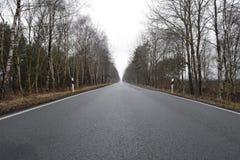 El largo camino Foto de archivo
