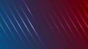 El laser de neón azul y rojo alinea la animación video