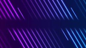 El laser de ne?n violeta azul alinea la animaci?n video