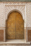 El latón adornó la puerta marroquí Fotografía de archivo