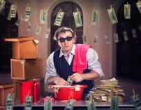 El lavar planchar de dinero Imágenes de archivo libres de regalías