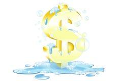 El lavar planchar del dinero Fotos de archivo