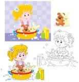 El lavarse libre illustration