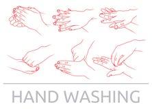 El lavarse de las manos Fotos de archivo libres de regalías