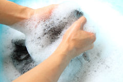 El lavarse a mano Foto de archivo