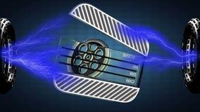 El lazo gira palmada del cine 3D rendido libre illustration