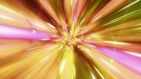 El lazo inconsútil del viaje interestelar a través de un wormhole amarillo llenó de las estrellas libre illustration