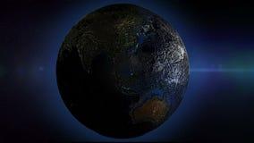 El lazo inconsútil giratorio de la tierra, superficie de tierra es la mirada topada áspera 3d libre illustration