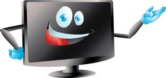 El Lcd llevó la presentación del monitor de la TV Fotografía de archivo libre de regalías