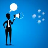 El líder comunica para combinar Imagen de archivo