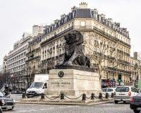 El león de Belfort Fotos de archivo