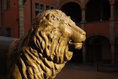El león de Lyon, Francia imagenes de archivo