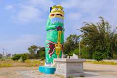 El león más alto del guarda de kinmen fotografía de archivo libre de regalías