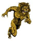 El león se divierte el funcionamiento de la mascota Fotografía de archivo
