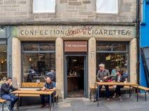 El lechero, Edimburgo Escocia Foto de archivo