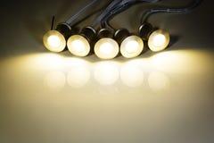 El LED abajo se enciende Fotos de archivo