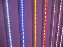 El LED enciende el arco iris Foto de archivo libre de regalías
