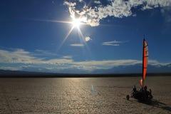 El Leoncito Blokart sun stock image