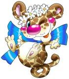 El leopardo alegre con DA Fotos de archivo
