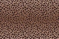 El leopardo del marrón oscuro manchó textura de la piel Vector ilustración del vector