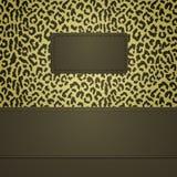 El leopardo mancha la bandera Imagen de archivo