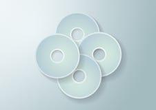 el Libro Blanco 3d circunda el fondo Fotografía de archivo libre de regalías