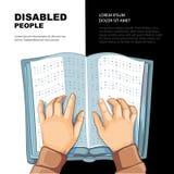 El libro de Braille Fotos de archivo libres de regalías
