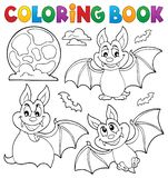 El libro de colorear golpea la colección 1 del tema Ilustración del Vector