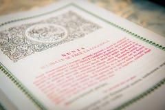 El libro de la boda Fotografía de archivo