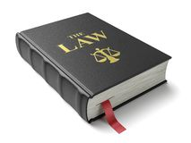 El libro de leyes Constitución aislada en el fondo blanco stock de ilustración