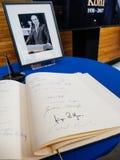 El libro de los condoleances para Helmut Kohl en el Parlamento Europeo Fotografía de archivo libre de regalías