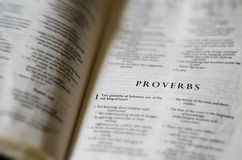 El libro de proverbios Fotos de archivo libres de regalías