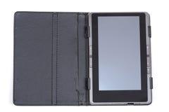 El libro electrónico en la cubierta negra Fotos de archivo libres de regalías