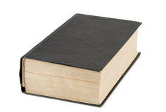 El libro negro Foto de archivo libre de regalías