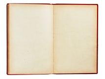 El libro viejo con las paginaciones vacías aisló Imagen de archivo libre de regalías
