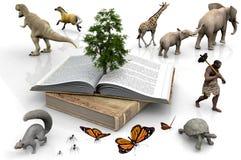El libro y los animales Imágenes de archivo libres de regalías