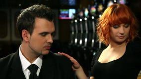 El ligar en casino almacen de metraje de vídeo