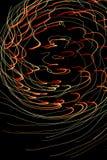 El lightpainting de los fuegos artificiales defocused Fotografía de archivo libre de regalías