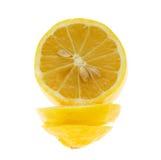 El limón aisló Foto de archivo libre de regalías