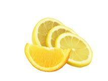 El limón del corte Imagen de archivo libre de regalías