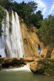 El Limon waterfall. Dominican Republic Royalty Free Stock Photos