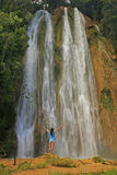 El Limon waterfall. Dominican Republic Royalty Free Stock Image