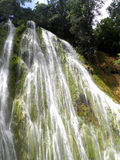 El limon waterfall dominican republic. Waterfall in el limon in the Dominican Republic Royalty Free Stock Images